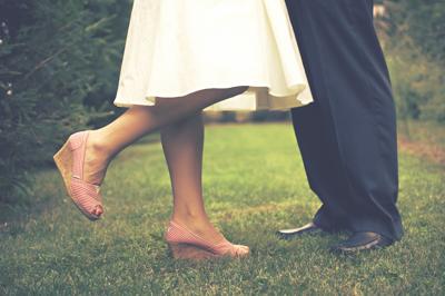 Tanzpaar Füße