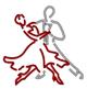 Logo der Tanzsportgemeinschaft Rot-Silber Saulheim und Umgebung