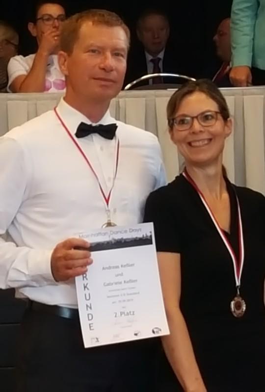 Gaby und Andreas Kessler belegen Platz 2